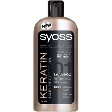 Syoss Keratin Hair Perfection Shampoo 500 ml / 16.9 fl oz