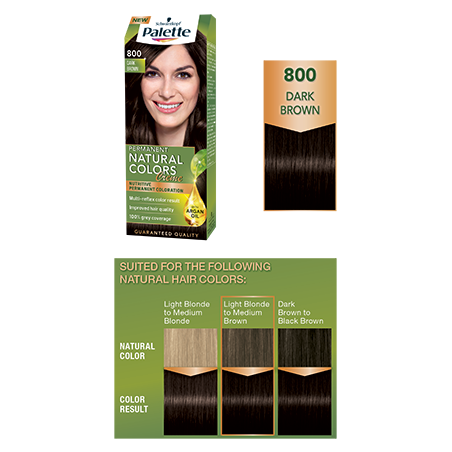 Schwarzkopf Palette Permanent Natural Colors Creme 800 Dark Brown