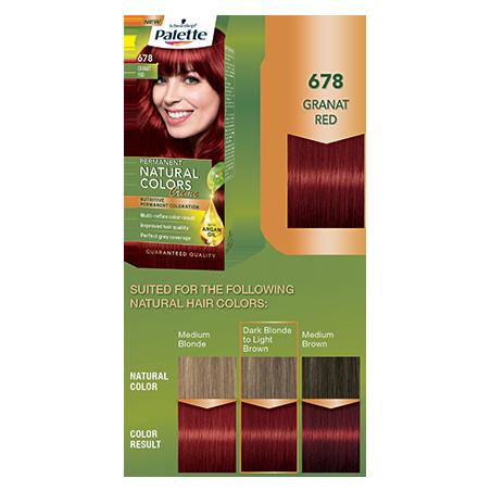 Schwarzkopf Palette Permanent Natural Colors Creme 678 Granat Red