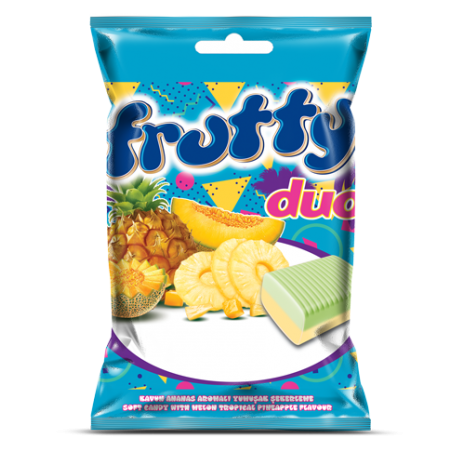 Tayas Frutty Duo Melon Pineapple Flavour Soft Candy 80 g / 2.8 oz