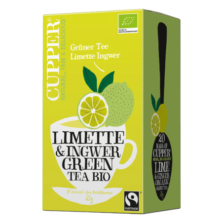 Cupper Lime & Ginger Green Tea Bio
