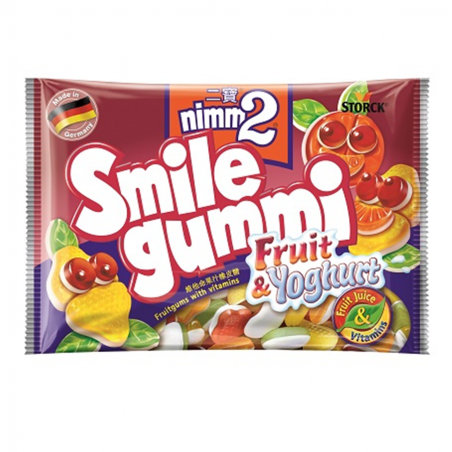 Storck nimm2 Smile Gummi Fruit & Yoghurt 100 g / 3.4 oz