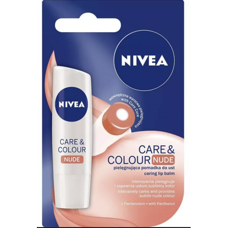 Nivea Care & Colour Nude Lip Balm 4,8 g
