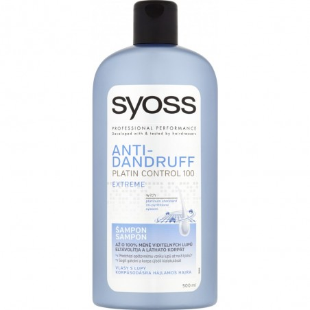 Syoss Anti-Dandruff Platin Control 100 Extreme Shampoo 500 ml / 16.7 fl oz