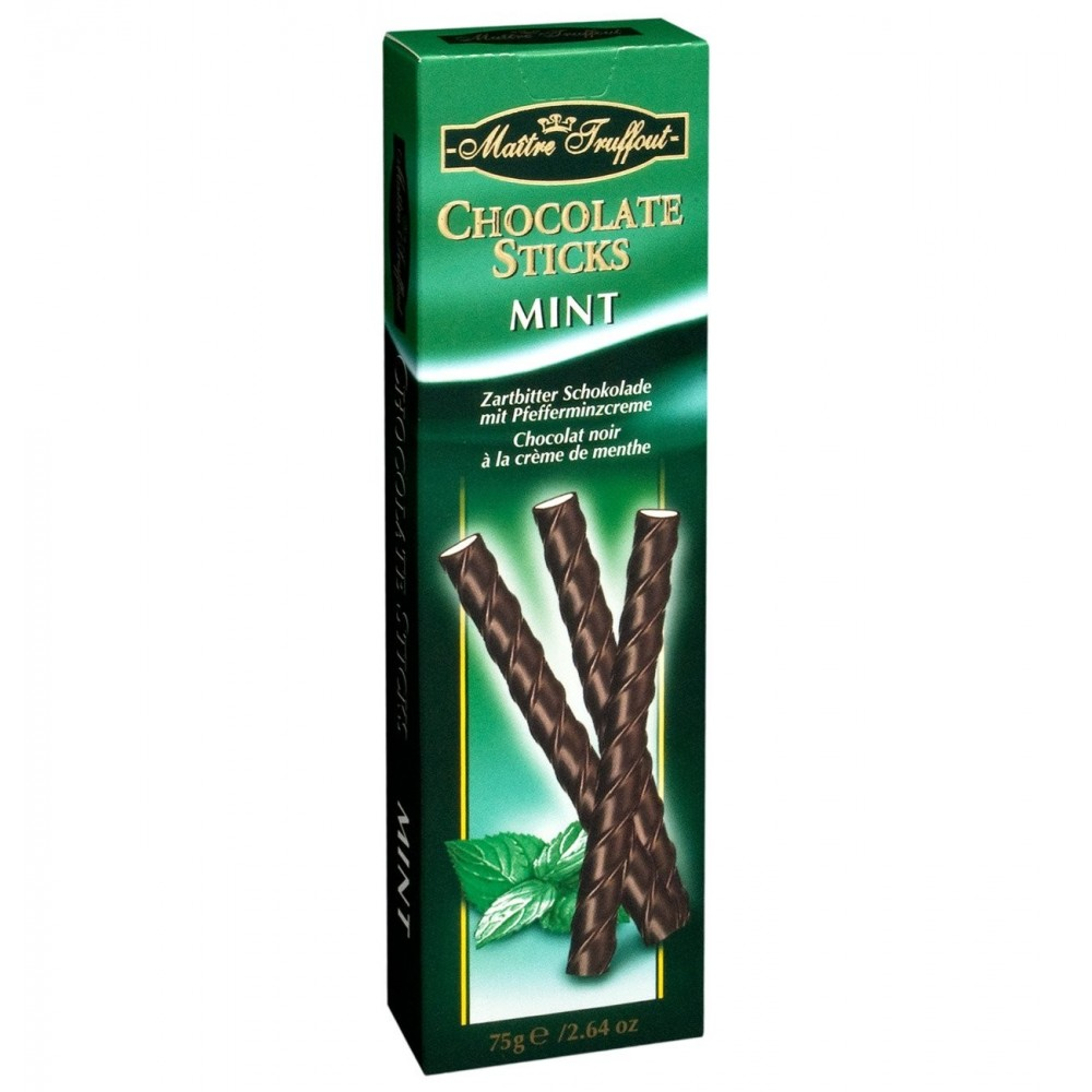 Maitre Truffout Chocolate Sticks Mint 75 g / 2.65 oz
