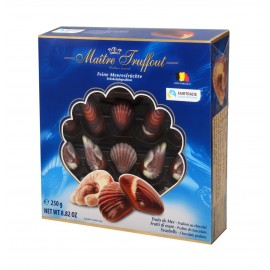 Maitre Truffout Assorted Pralines Sea Shells Blue 250 g / 8.82 oz