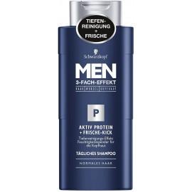 Schwarzkopf Men Active Protein + Fresh Kick Shampoo 250 ml / 8.3.fl oz