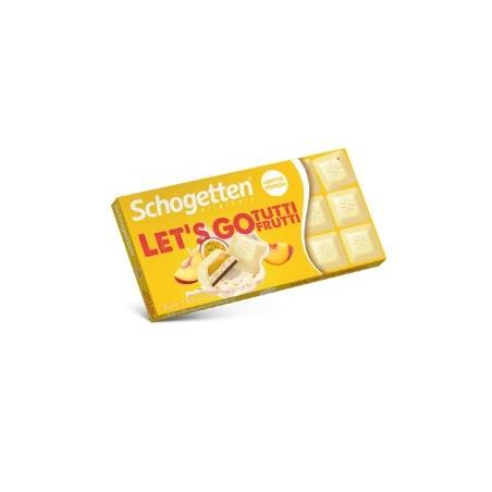 Schogetten LET'S GO Tutti Frutti Chocolate 100 g / 3.4 oz