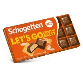 Schogetten LET'S GO Sweet'N'Salty Chocolate 100 g / 3.4 oz