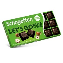 Schogetten LET'S GO Nuts in Dark Chocolate 100 g / 3.4 oz