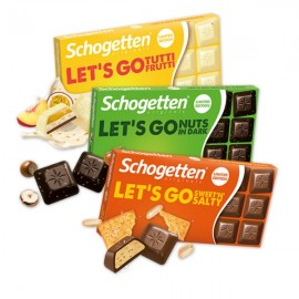 Schogetten LET'S GO Chocolate 100 g / 3.4 oz (3-Pack)