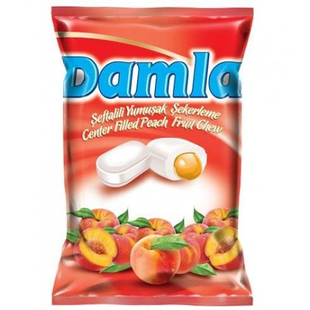 Tayas Damla Peach Chewy Candy 90 g / 3.17 oz