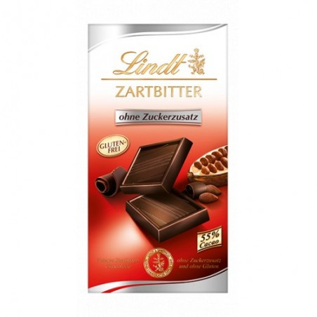 Lindt Zartbitter / Bittersweet Chocolate without sugar 100 g / 3.4 oz