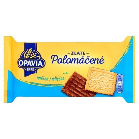 Opavia Zlate Polomacene Milk Wafers 100 g