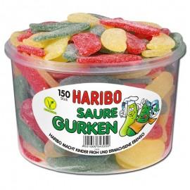 Haribo Saure Gurken / Sour Cucumbers 1.35 kg / 45 oz / 150 pcs