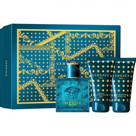 Versace Eros M Eau de Toilette 50 ml / 1.7 fl oz + Shower Gel 50 ml + After Shave Balm 50 ml