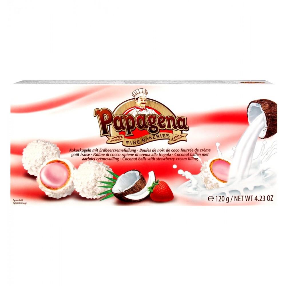 Papagena Waferballs Coconut Strawberry 120 g / 4.23 oz