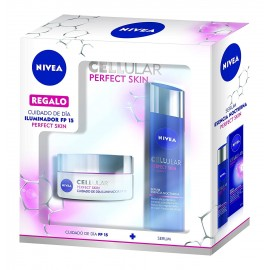 Nivea Cellular Perfect Skin Day Cream 50 ml / 1.6 fl oz + Overnight Essence Serum 40 ml / 1.3 fl oz