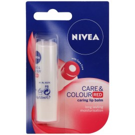 Nivea Care & Color Red 2in1 Lip Balm 4,8 g / 5,5 ml
